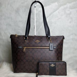 COACH GALLERY TOTE AND WALLET COMBO